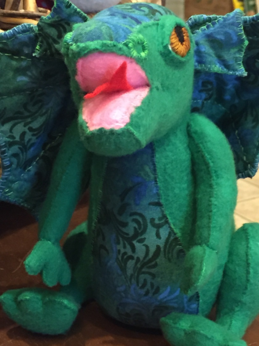 Handmade felted dragon - wonderful gift for adult or child